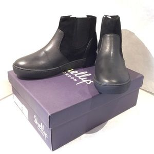 Shellys London black leather Paucien booties